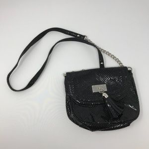 Nine West Crossbody Bag Purse Black Animal Skin